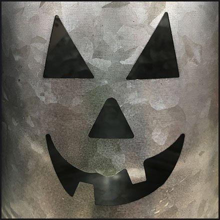 Galvanized Bucket Jack-O'-Lantern Halloween Fun