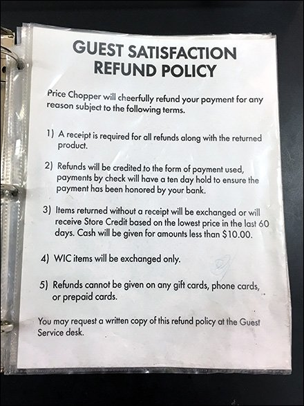 Guest Satisfaction Refund Policy Binder