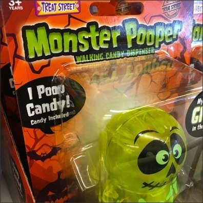 Halloween Monster Pooper For Candy Fenced