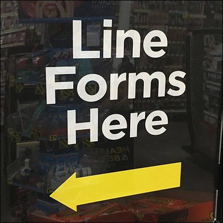 Line Forms Here Queue Management Sign