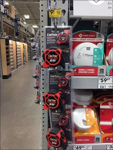 Luftkin Tape Measure Two-Fer Strip Merchandiser