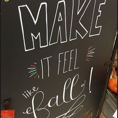 Make It Feel Like Fall Chalkboard Sign