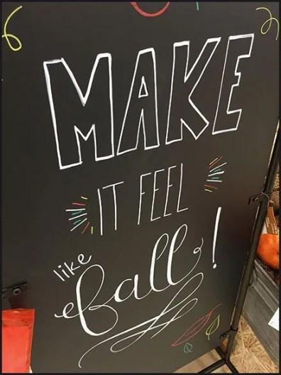 Make It Feel Like Fall Chalkboard Sign