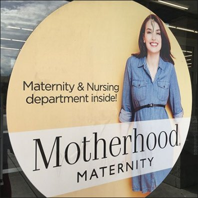 Motherhood Maternity Department Inside Store