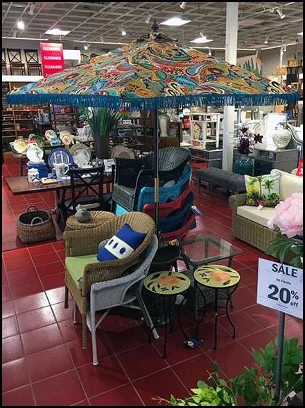 Patio Umbrella In-Store Space Frame