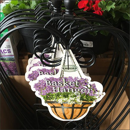 Hanging Basket as Basket Hanger Sign