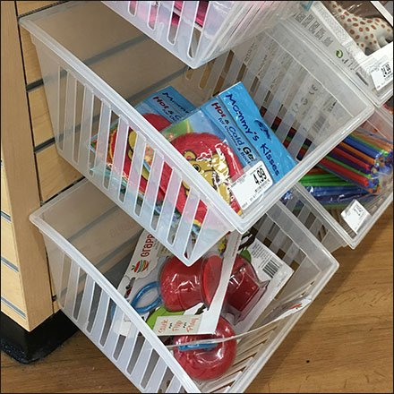 Plastic Baskets Function As Slatwall Bulk Bins