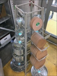 Plant Saucer Freestanding Trapezoid Rack