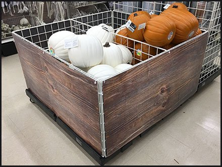 Open Wire Bulk Bin Disguised As Wood Crate