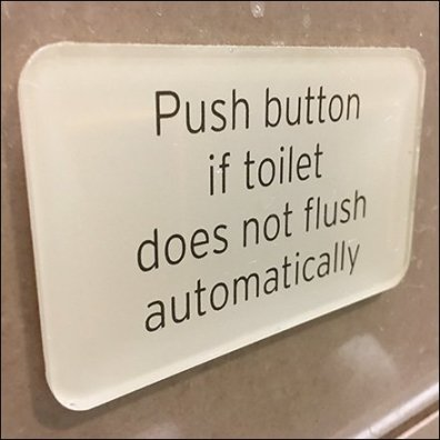 Push Button Toilet Flush Override