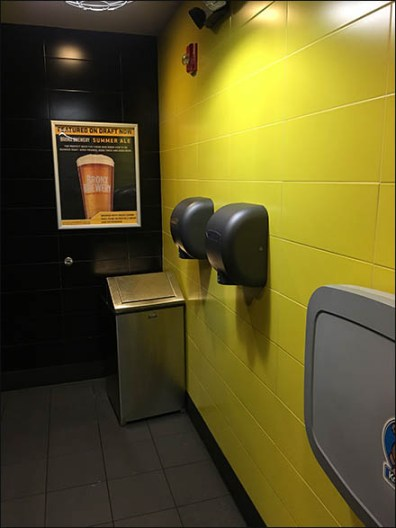 Restroom Beer Advertising At Buffalo Wildwings