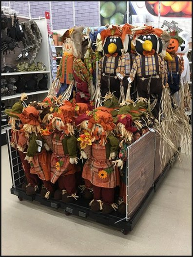 Fall Scarecrow Military Square Merchandising