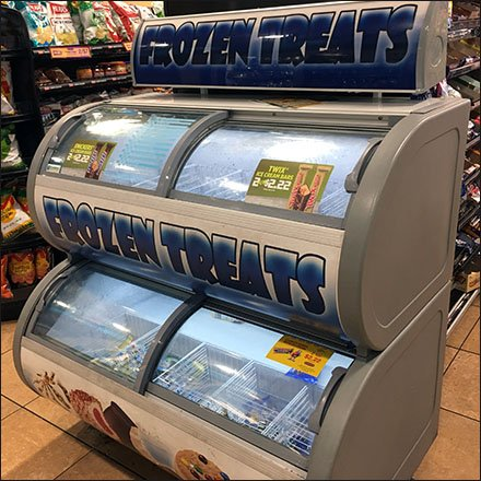 Double-Decker Freezer Frozen Treats Cooler