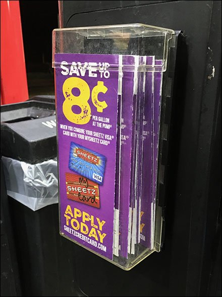 All-Weather Brochure Holder for Gas Pump