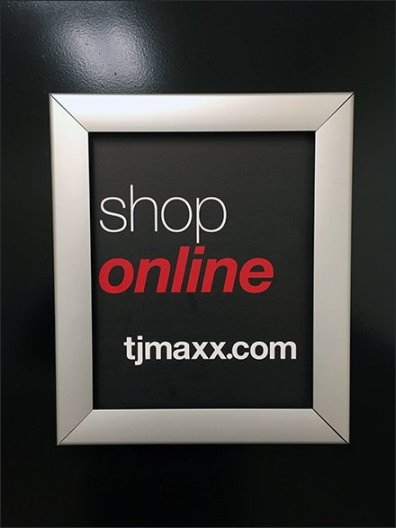 Shop TJMaxx Online Restroom Advertising
