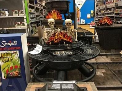Halloween Grilling Get Together for Skeletons