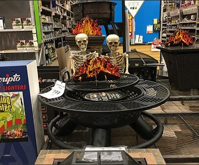 Halloween Grilling Get Together for Skeletons
