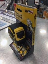 Stanley Carded Tape Measure Self-Stands
