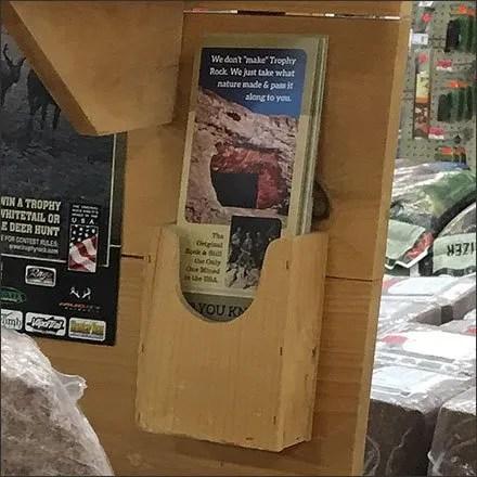 Trophy Rock Salt Lick Wood Brochure Holder