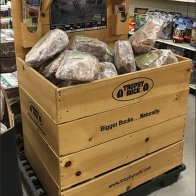 Trophy Rock Salt Lick Wood Bulk Bin Display 2