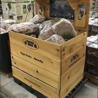 Trophy Rock Salt Lick Wood Bulk Bin Display 3