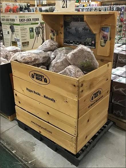 Trophy Rock Salt Lick Wood Bulk Bin Display 3