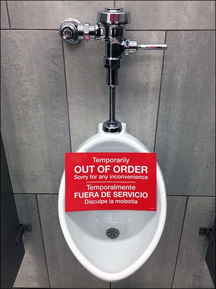 Urinal Only Temporarily Out Of Order