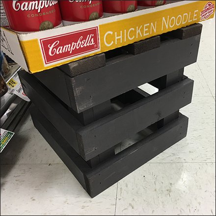 Wood Crate Dunnage Rack Merchandising