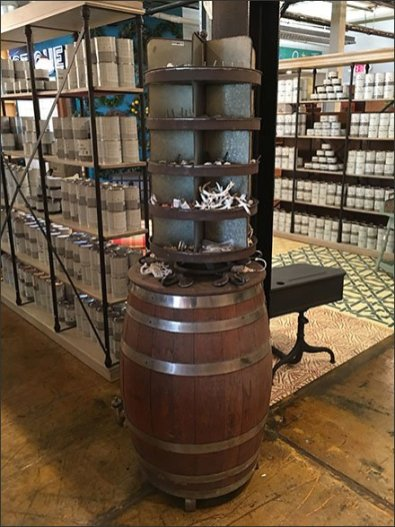 Barrel-Top Spinner Stacked Display 3