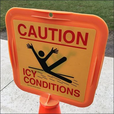 Caution Icy Conditions Out Of Season