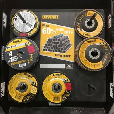 DeWalt Grinding Wheel Post Hung Display Feature