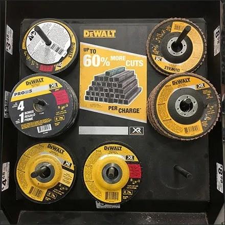 DeWalt Grinding Wheel Post Hung Display Feature