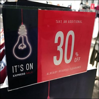 Lightbulb Sale Is On Sidebar Branding