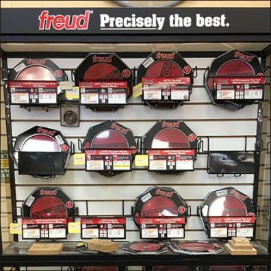 Freud Freestanding Circular Saw Blade Display