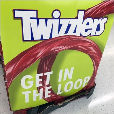 Get In The Loop Twizzlers Display