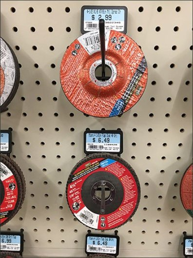 Grinding Wheel Merchandising En Masse