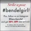 Strike a #BendelGirl Pose Urges Henri Bendel