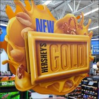 Hershey's Gold and Kisses Combo Island Display
