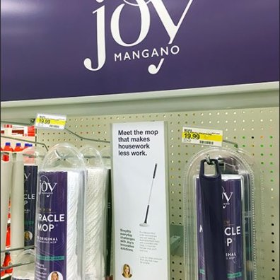 Joy Mangano Miracle Mop Endcap Display