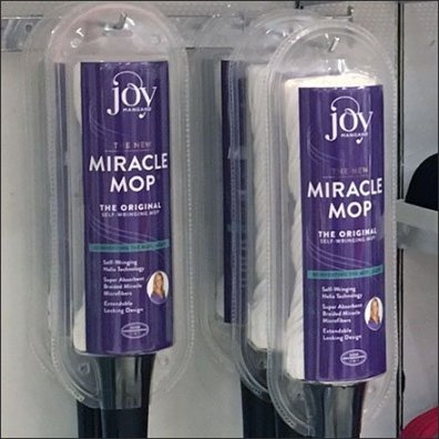 Joy Mangano Miracle Mop Hook Hung Feature