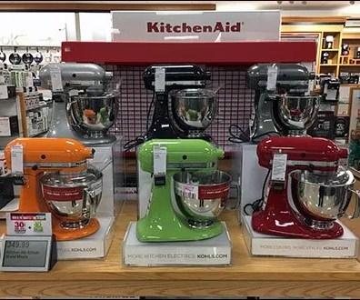 Kohls KitchenAid Colorful Mixer Island