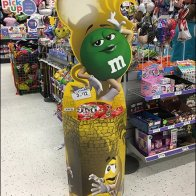 M&M's Green Strikes A Stylish Pose