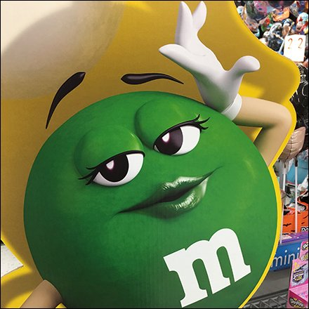 M&M's Green Freestanding Display Feature