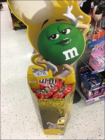 M&M's Green Strikes A Stylish Pose