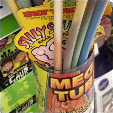 Shelf Edge Mega Tube Candy Quiver