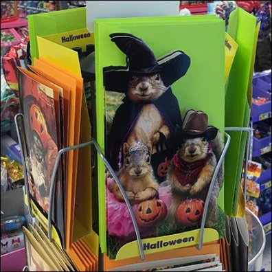Freestanding Mini Halloween Card Tower