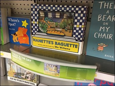 Nanette's Baguette Book Shelf-Edge Dimensional