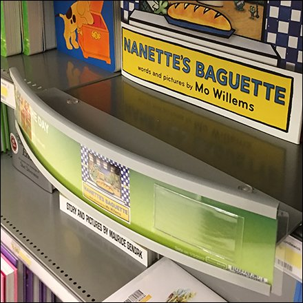Nanette's Baguette Shelf Edge Book Dimensional Feature