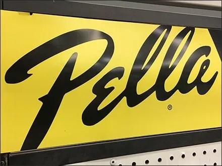 Pella Door Merchandising Logo