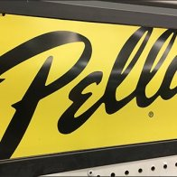 Pella Storm Door Accessory Endcap Display Logo